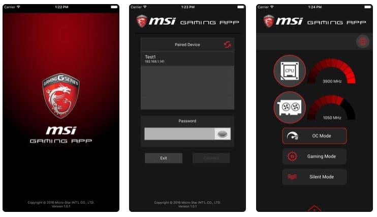 setting of msi iOS