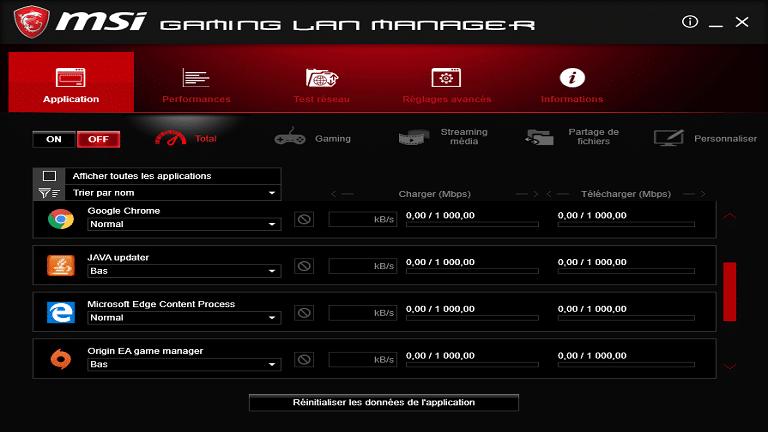 gaming lan manager screenshot