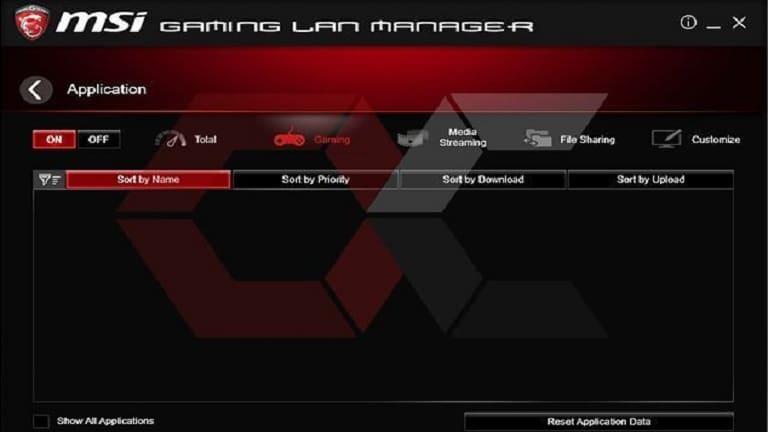 msi gaming lan manager screenshot