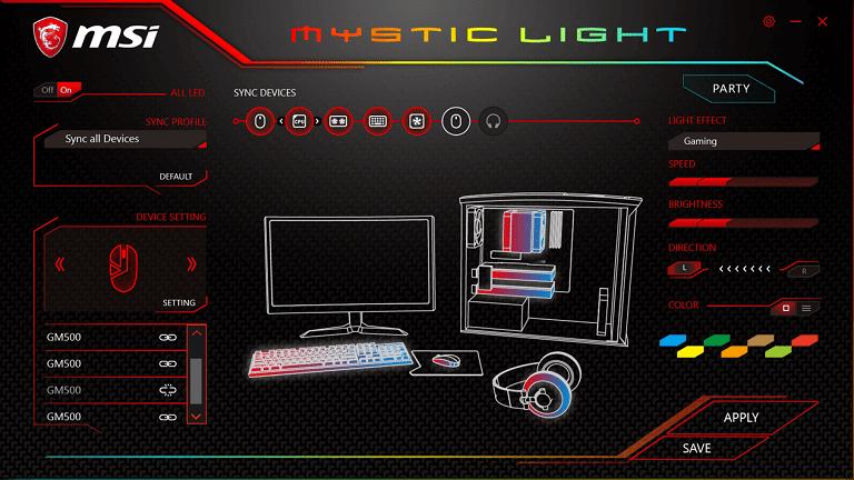 mystic light screenshot
