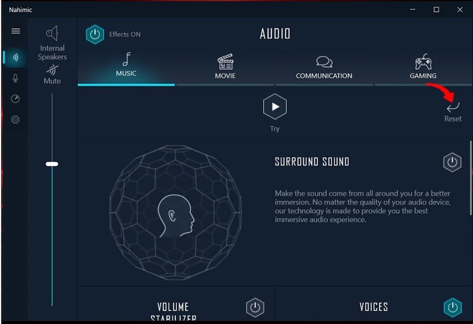 MSI Nahimic VR Screenshot