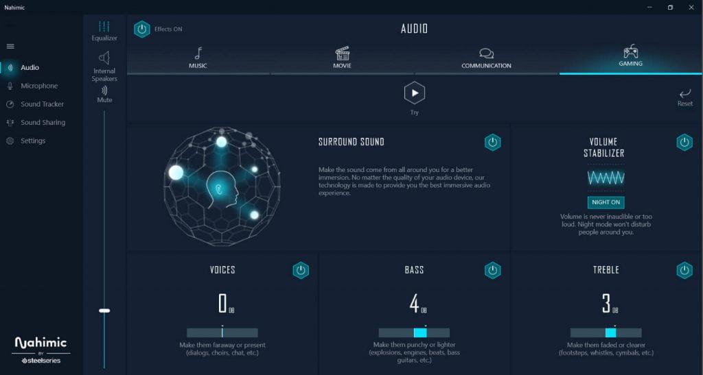 MSI Nahimic VR Screen