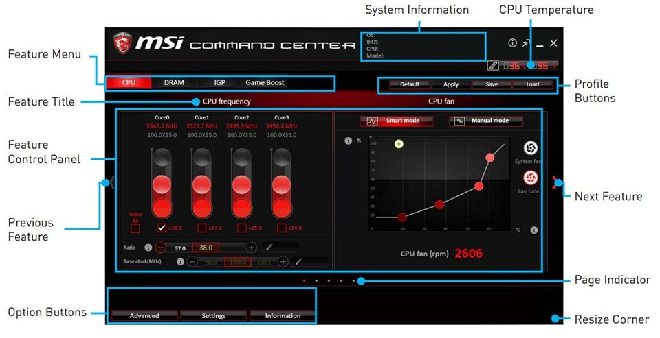 msi command center features
